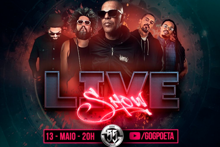 Live Beneficente do rapper Gog e convidados